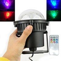 Uzaktan RGB LED Su Dalga Dalga Etkisi Sahne Partisi Lazer Projektör Okyanus Dalga Gece Işığı Projektör aydınlatma