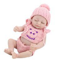 10 Pulgadas de Silicona Reborn Girl Dolls Realista Reborn Baby Doll Coleccionables Baby Dolls Para Niñas Niño Realista Juguetes para bebés