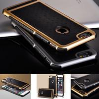 5S novos casos de telefone de luxo para apple iphone 5 5se 6/6 s plus 5.5 de borracha híbrido pc tampa traseira robusto matte rígido de volta telefone habitação