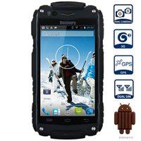 "Discovery V8 3G SmartPhone wasserdicht stoßfest 4,0 ""IPS Android 4.4 MTK6572 Dual-Core 5.0MP Dual Sim WCDMA WIFI Handy"