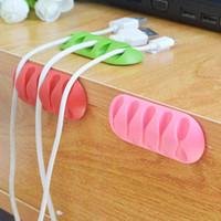 Soft Silicon Cable Winder Auricular Titular de cable Alambre Almacenamiento Clips Cargador Administración Dispositivo Cargador Cable Desk Description Organizador 2016