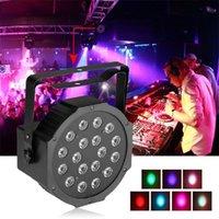 18LEDS RGB Внутренняя голосовая музыка Активированная светодиодная Настоящая Света для сценического освещения KTV DJ DISCO Party Stage Effect Par Light вращающаяся лампочка