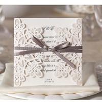 lace wedding invitations lace cutout wedding invitation cards