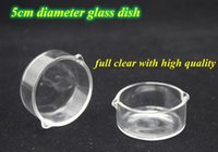 2016 Clear Oil Ring Cenicero Dish Glass Dish 5cm Diámetro para Micro NC Kit Oil Rigs Bongs de vidrio DHL
