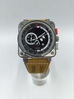 lujo Limited flyback Edition Hombres Reloj deportivo cuarzo cronógrafo cristal de zafiro alta qality Radar Relojes