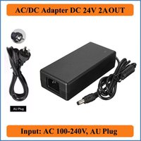 24V 2A AU Plug AC DC Adapter AC100-240V to DC 24V 2A Power Supply 48W Charger for Led Strips Lights/CCTV Camera/laptops