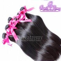 3pcs / lot Haarverlängerungen 10A Dropshipping Gerade Brasilianische Haarbündel können von 1 bis # 613 100% natürliche menschliche Haare Weave Greatremy gefärbt werden