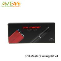 Coil Master Coiling Kit V4 atualização v3 6 em 1 kit 15/20/30/35 / 40mm Duas formas de torção