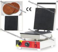 Бесплатная доставка коммерческий антипригарным 110 в 220 В электрический 25 см круглый Stroopwafel голландский Syrop вафельница железа пекарь машина плесень пластины