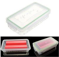 18650 Batterij Box Waterdichte Case Plastic Beschermende opslag Doorzichtige batterijhouder Opbergdoos voor 18650 en 16340 Batterij DHL GRATIS