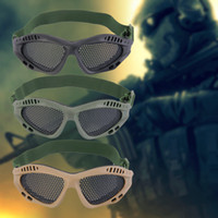 TUR Tactical Outdoor Mesh Steel Eyes Lunettes de protection Lunettes Eyewear