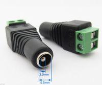 Connettore per saldatura a saldare CC da 5,5x2,5mm 2,5mm CCTV a corrente continua femmina x100