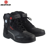 SCOYCO T- 015 Moto Racing faux Leather Motorcycle Boots Shoes...