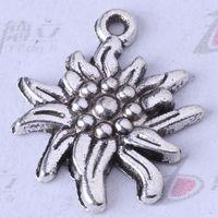 Daisy Charms Antique Silver / Bronze Wisiorki Fit Bransoletki lub Naszyjnik DIY Stop Biżuteria 250 sztuk / partia 3357Z