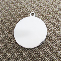 100pcs lot Stainless steel Out- hole Circle blank Dog tags pe...
