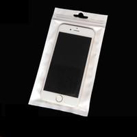 Klarer weißer Perlenplastikpolyopp-Verpackungsreißverschluß Reißverschluss Kleinpakete PVC-Beutel für Fall für iphone 6 6s plus Samsung-Galaxie S5 S6