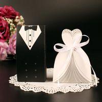 Свадьбы пользу держатели конфеты сумки много бумаги белый и черный Европейский и американский дизайн свадьбы пользу коробки БВ-FH0001