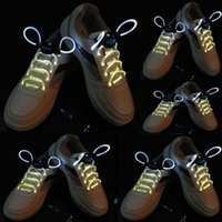 Calçados LED Shoelaces Choinhos de cor branca iluminam sapato piscando brilhando el Shoelaces 5 pares para um pacote