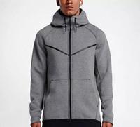 2017 새로운 가을, 겨울 대형 MEN 'S 까마귀 스포츠웨어 TECH 털 WINDRUNNEOR 패션 레저 스포츠 재킷 실행 피트니스 재킷 코트