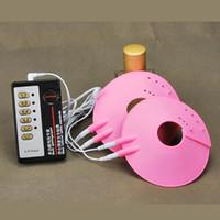 Juguete temático médico Pezones de choque eléctrico Mat Breast Terapia biológica Masajeador de mama Enhancer Pulse Physical Therapy Pad para mujeres I9-15