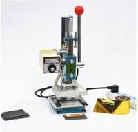 10X13 CM Hot stamping máquina debossing máquina de couro 2 em 1 Impressora De Couro De Gravação Vincando Marcação Imprensa Máquina 220 V
