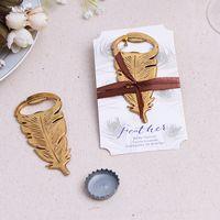 Abrebotellas de metal Artículos de la barra de la cocina Nuevo diseño creativo Forma de la pluma Sacacorchos Regalos de boda Recuerdos 4 5yk C R