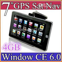 "7 pollici Auto GPS Navigator Navigation 128MB 4GB Wince 6.0 con touch screen FM 7 ""con mappa"