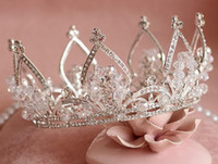 Vintage Silver Wedding Tiara Bridal Hair Crown Headband Acce...