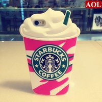 Hot Sale 3D Cartoon Silicon Starbuck Coffee Cup Case Cover f...