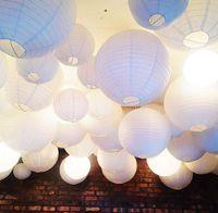 2017 새로운 도착 50 조각 웨딩 종이 랜턴 램프 쉐이드 생일 베비 샤워 파티 정원 홈 인테리어