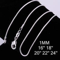 Hot 925 Stering Silver Chain Fine Jewelry 925 silver smooth ...