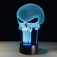 2017 Halloween Publisher 3D Illusion Lamp 3D Optical Lamp Ni...