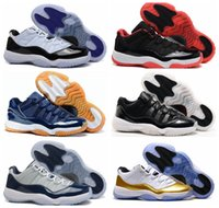 Scarpe da basket uomo 11 George Town Concord 11s Low Metallic Gold Midnight Blu scuro White Red Bred Sport Sneaker US 7-12