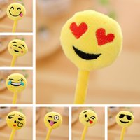 Cartoon Pens Student Study Stationery Articles Plush Smiling...