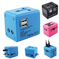 2 USB port adaptateur de voyage dans le monde AC TO USB Power Wall Chargeur US EU UK AU Plug 5V 2.1A pour tablette pc portable nouvelle arrivée