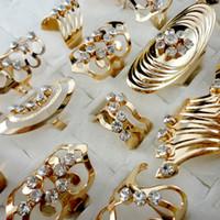 مزيج نمط سبائك الزنك مطلية بالذهب حلقة تعديل تو خاتم للنساء الرجال خواتم مجوهرات بالجملة الكثير LR475