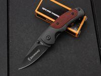 براوننج FA15 صغير الجيب الطي السكاكين 5cr15mov 57hrc التيتانيوم بليد الخشب مقبض التكتيكي الصيد بقاء أداة edc مجموعة