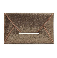 Luxury shiny hand bags big envelope clutch bag glitter ladie...