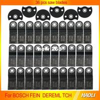 36 Sztuk Oscylujący Multi Narzędzia Piły ostrza do wielofunkcyjnych akcesoriów narzędzi elektrycznych jako FEIN Multimaster, TCH, Dremel, Cut