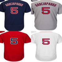 Vente chaude hommes femmes enfants enfants boston 5 nomar garciakarra cool base flex de haute qualité rouge bleu rouge gris maillots de baseball cousus