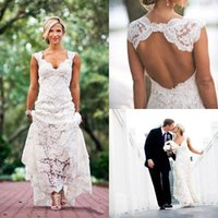 Vintage 2020 Fulla Lace Beach Wedding Dresses Party Free Shi...