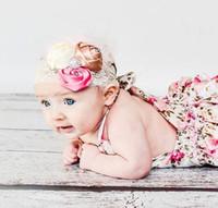 15% de desconto! 7 estilo padrão floral padrão macacão de bebê recém-nascido da menina da criança roupas de renda infantil macacão 6 pcs (3 pcs rompers + 3 pcs hairbands)