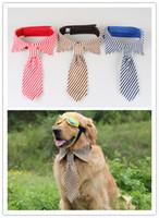 Neue große große Hundekrawatten der freien Verschiffenqualität Justierbarer Ansatz der großen Krawatten von40-50cm nette Krawatten für große Hunde 10pcs / lot