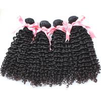 Greatremy® 4 teile / los Brasilianische menschliche haarbündel 8-30 natürliche farbe färbbare tiefe lockige virginhair erweiterungen fabrik hairweft