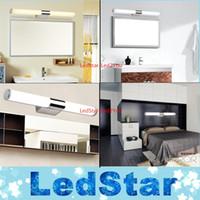 Nouvelle arrivée de haute qualité 8W 12W 16W 24W bref tube en acier inoxydable LED chaud blanc / blanc lampe de salle de bains miroir lampe 110-240V AC