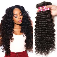 Deep Wave Hair Weave Brazilian Human Hair 100% Unprocessed N...