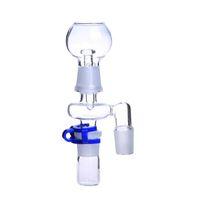 Ângulo de 45 graus de 90 graus Reclaim Ash Catcher 14mm 18mm Masculino Feminino tubo de vidro Adaptador De Vidro Com Keck Clipe para tubo de água de vidro
