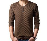 2016 Осень Зима свободного покроя V-образным вырезом свитер мужские кашемировые шерстяной пуловер рождественский свитер мужчин платье вязаный свитер бесплатная доставка