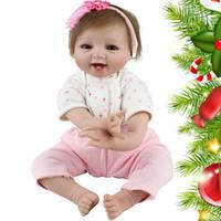 Belle Reborn Baby Dolls Réaliste Doux Silicone Poupées Nouveau-Né Réaliste Vinyle Vivant Reborn Bébé Fille Avec Avec Des Vêtements