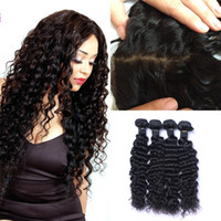 G- EASY Silk Base Frontal With Bundles Virgin Brazilian Deep ...